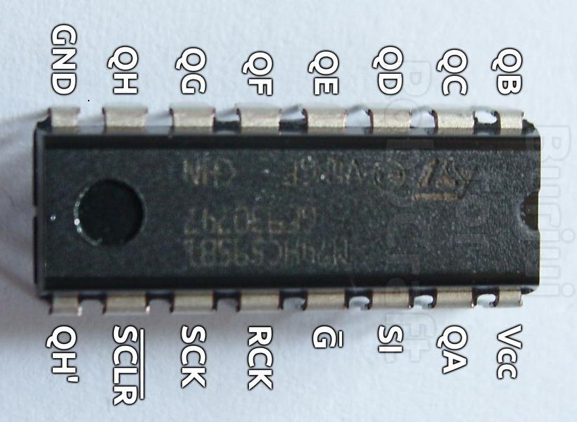Сдвиговые регистры 74HC595